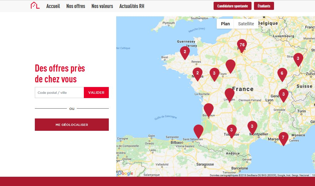 Carte des offres interactive